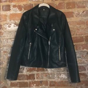 Hunter green Blank NYC faux leather jacket